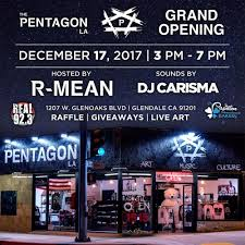 Grand Opening Flyer Unique RMean's The Pentagon LA Art Music Culture Grand Opening With