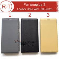 oneplus 3 3t flip leather case hall switch sleep function card slot hitam