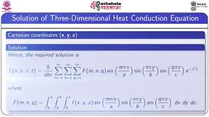 solution of three dimensional heat equation maths