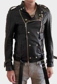 new addition balmain black original leather fashion jacket men s