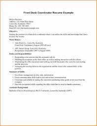 front desk resume sample