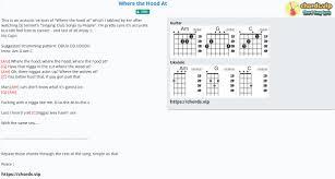 Chord: Where the Hood At - DMX - tab, song lyric, sheet, guitar, ukulele