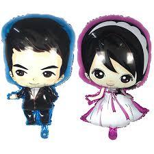 <b>2pc</b>/<b>lot</b> Boys Girls Dresses Balloons <b>Valentine's</b> Day Wedding Foil ...