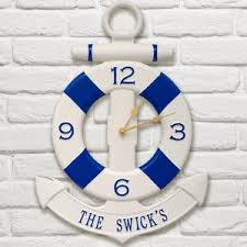 office large size floor clocks wayfair. Anchor And Buoy Personalized IndoorOutdoor Wall Clock Office Large Size Floor Clocks Wayfair