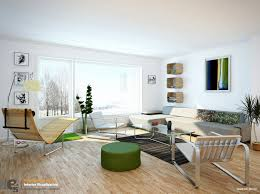 Comfortable Living Room Interior Design With Beautiful Views