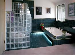 pittsburgh corning decora glass blocks are used as a privacy