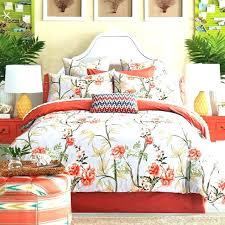 blue and orange bedding sets country style colored fl print set queen king size duvet cover orange comforter set queen bedding