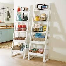 White Encore Narrow Bookshelf  &. Roll over to zoom