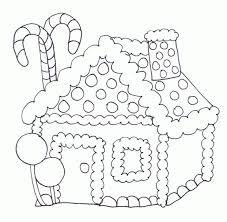 Small Picture Download Gingerbread House Coloring Pages