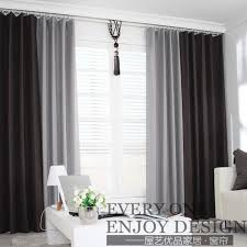 Gray and beige curtains Shower Curtain Lscl112 Linen Thickening Stitching Curtains Stylish Atmosphere Gray Coffee Color Aliexpress Ls Cl112 Linen Thickening Stitching Curtains Stylish Atmosphere Gray