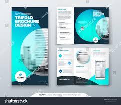 Tri Fold Brochure Design Teal Orange Corporate Business