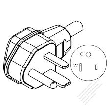 Usa canada nema 5 50p 2 p 3 wire grounding elbow