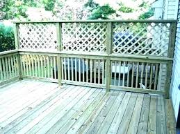 deck privacy panels metal screens screen landscaping white lattice outdoor fence garden sydney