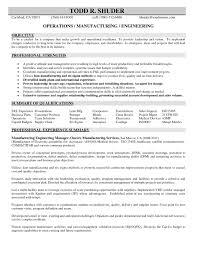 Lean Manufacturing Resume Amykoko