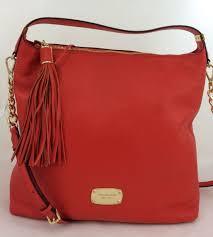 whole new michael kors mk bedford large tz shoulder purse tassel handbag leather 83b40 37220