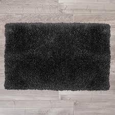 deal clara clark gy bath rug with non slip backing rubber super soft bathmat x large 32 x 48 black