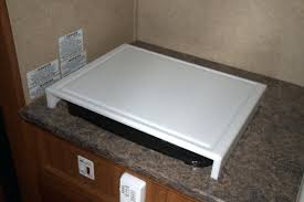 cutting board over stove topwooden rv sink cover