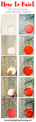 Step by Step Painting.Net. How To Paint Ornament with Bokeh Blurry Lights -