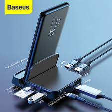 <b>Baseus 7-in</b>-1 Type C Adapter with 4K HDMI SD/TF Card Reader ...
