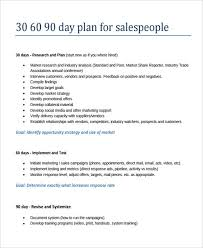30 60 90 Day Sales Plan Template Template Sample Resume Action