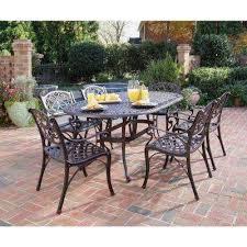 biscayne bronze 7 piece patio dining set