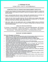 Gallery Of Simple Construction Superintendent Resume Example To Get