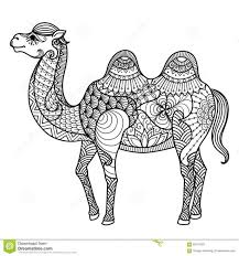 Small Picture Coloring Pages Animals Two Humped Bactrian Camel Coloring Page