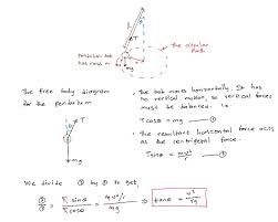 how to calculate centripetal force conical pendulum