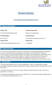 project charter construction project charter project sponsor prepared by s vassilatos pdf