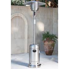 firesense gas 46 000 btu commercial patio heater in stainless steel