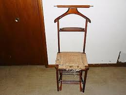 chair valet stand. vintage wood mid-century mcm reguitti mahogany valet stand stool folding chair