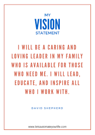 my vision statement sample how to create your vision statement for success david shepherd