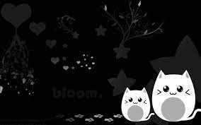 48+] Cute Wallpapers Black and White on ...