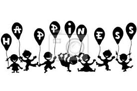 Doodle Bambini Con Palloncini Carta Da Parati Carte Da Parati