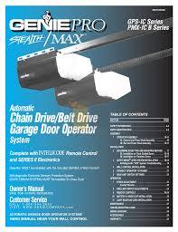 pdf for genie other promax garage door opener manual