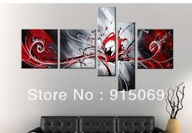 red and black abstract wall art