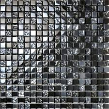 black mosaic tiles simple modern plating black mirror crystal glass mosaic tile for kitchen cabinet backdrop wall decoration in wallpapers from home