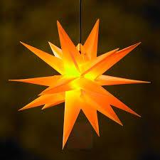 Gelber Kunststoff Stern Jumbo ø 1m Außen 18 Zacken
