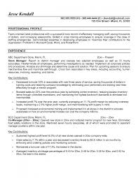 Cover Letter Store Manager Resume Example Convenience Store