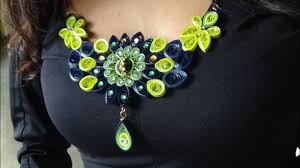 Quilling Chain Designs Quilling Necklace Design New 2016