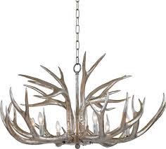 regina andrew antler chandelier silver leaf