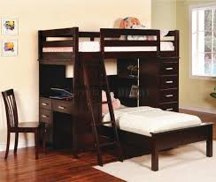 image of twin loft bed with desk