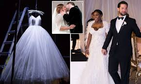 Serena Williams shares photo of wedding dress on Instagram   Daily ...