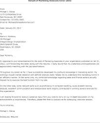 Assistant Marketing Manager Cover Letter Example Marketing Cover Letter Newskey Info