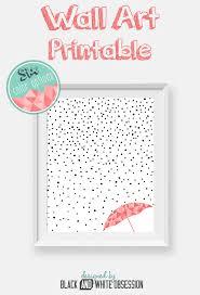 free printable rain and snow wall art