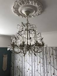 laura ashley lavenham 8 arm chandelier shabby chic cream rrp 300
