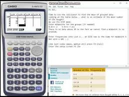Standard Office Equipment List Casio 9750gii Mean And Standard Deviation From Grouped Frequency