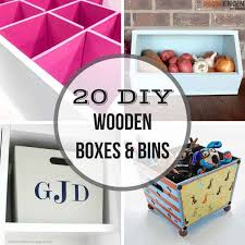 20 diy wooden boxes and bins to get