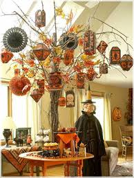 Snazzy Halloween Decorations Ideas As Wells As Your Home For Living Room  Orange Andblack Hang Complete