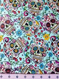 Floral Fabric, Flower Fabric,Mexican Fabric #MexicanFabric ... & Sugar Skull Fabric By The Yard by CutiePieCraftSupply on Etsy, $11.00 Adamdwight.com